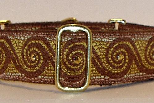 Brown Mosaic Wave Dog Collar $35+