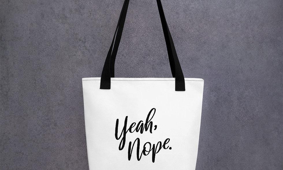 Yeah, Nope Tote bag