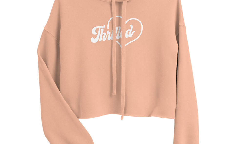Thrilled Women's Cropped Hoodie - Bella + Canvas 7502