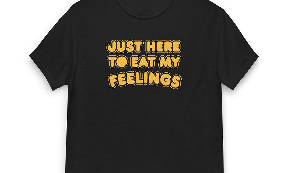 Just Here to Eat My Feelings Men's Heavyweight Tee Gildan 5000