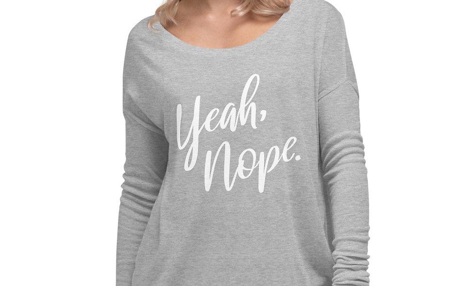 Yeah, Nope Flowy Long Sleeve Shirt - Bella + Canvas 8852