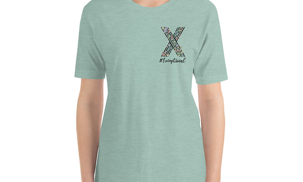 #Exceptional Unisex Heathered T-Shirt - Bella + Canvas 3001