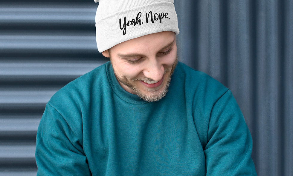 Yeah, Nope. Embroidered Beanie