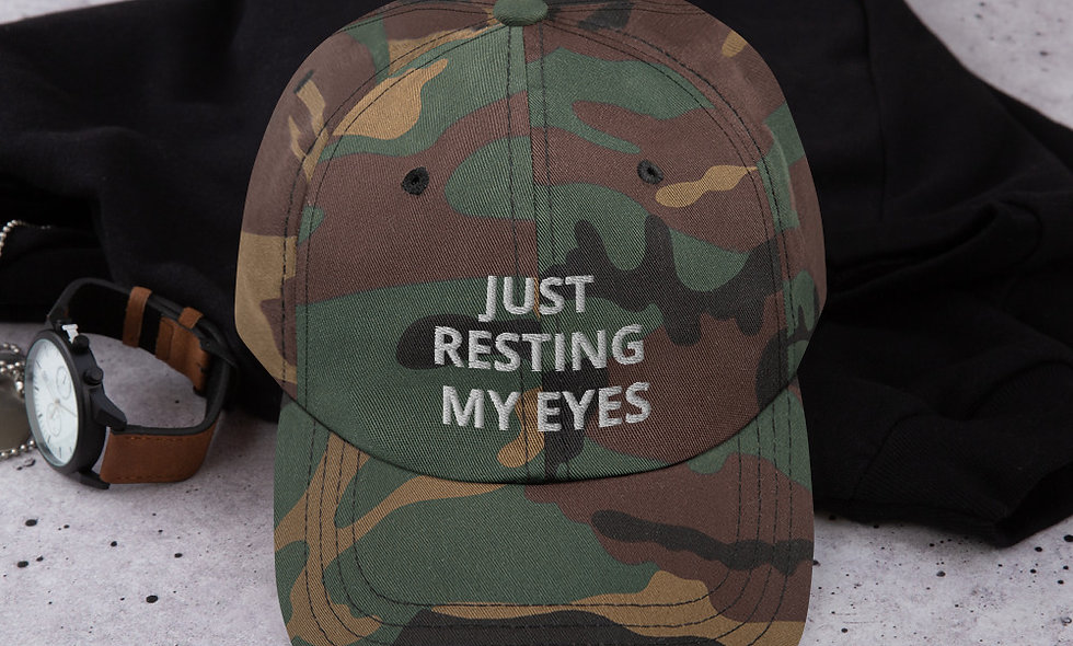 Just Resting My Eyes Classic Dad Hat - Yupoong 6245CM