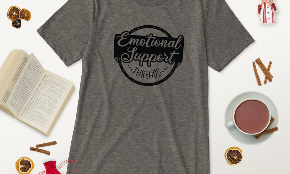 Emotional Support Threads Unisex Tri-Blend T-Shirt - Bella + Canvas 3413