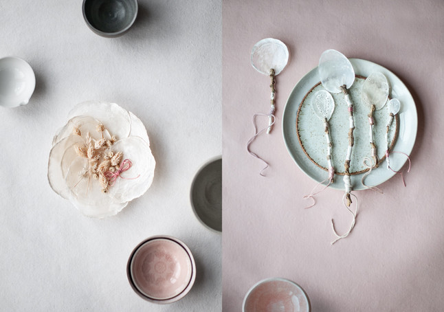 DIY Feature with Capiz Shells