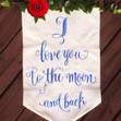 Baby Shower Fabric Sign