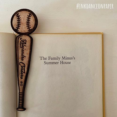 Baseball Personalized Bookmark