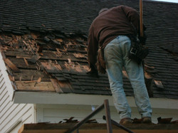 Removing old roof