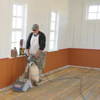 Bill Reed sanding floors
