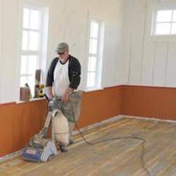 Bill Reed sanding floors