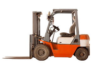 Old forklift,isolated on white backgroun