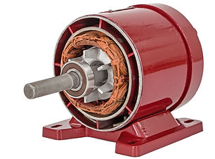 Disassembled of electric motor, isolated