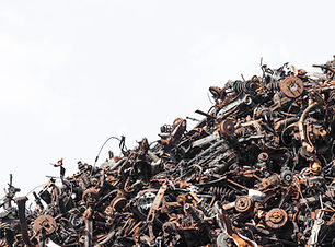 scrap metal isolated on the white backgr