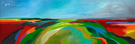 "acyl op linnen, ""Endless Summer"" 50 x 150"