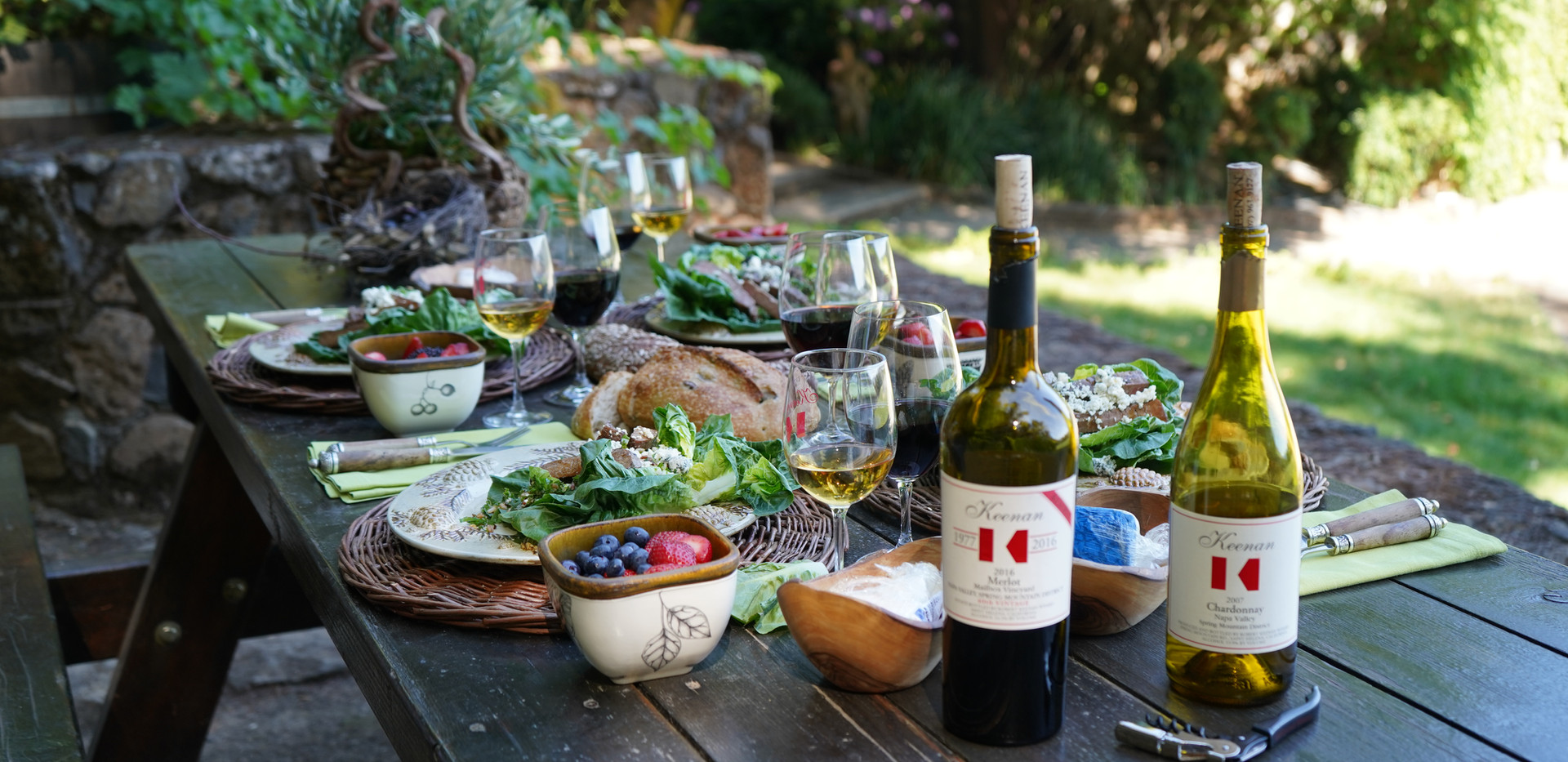 Napa Valley lunch picnic table.JPG