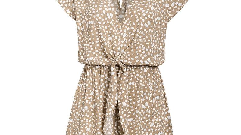 Romperor jumpsuit one piece polka dot pattern