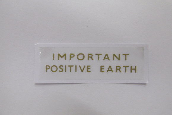 Important Positive Earth