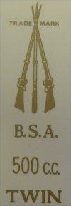 B.S.A ARMS 500cc.