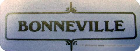 60-3950 - Bonneville Gold Script Decal