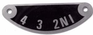 57-1417 - Gear Indicator Plate
