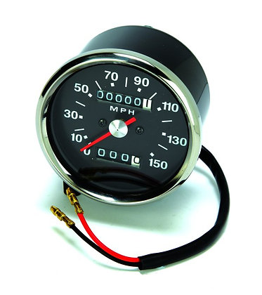 60-2394 - Speedometer Black Late 1:1 Ratio