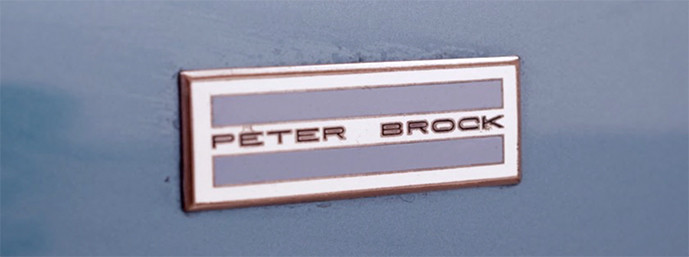 TR250K Peter Brock nameplate