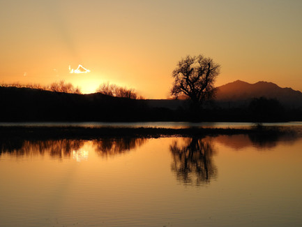 Sunset on the San Joaquin River Delta