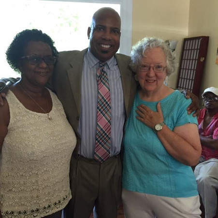 Rev. Jim, Rev. Tootle, and Friend