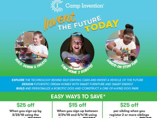 Camp Invention: June 18 -22, 2018