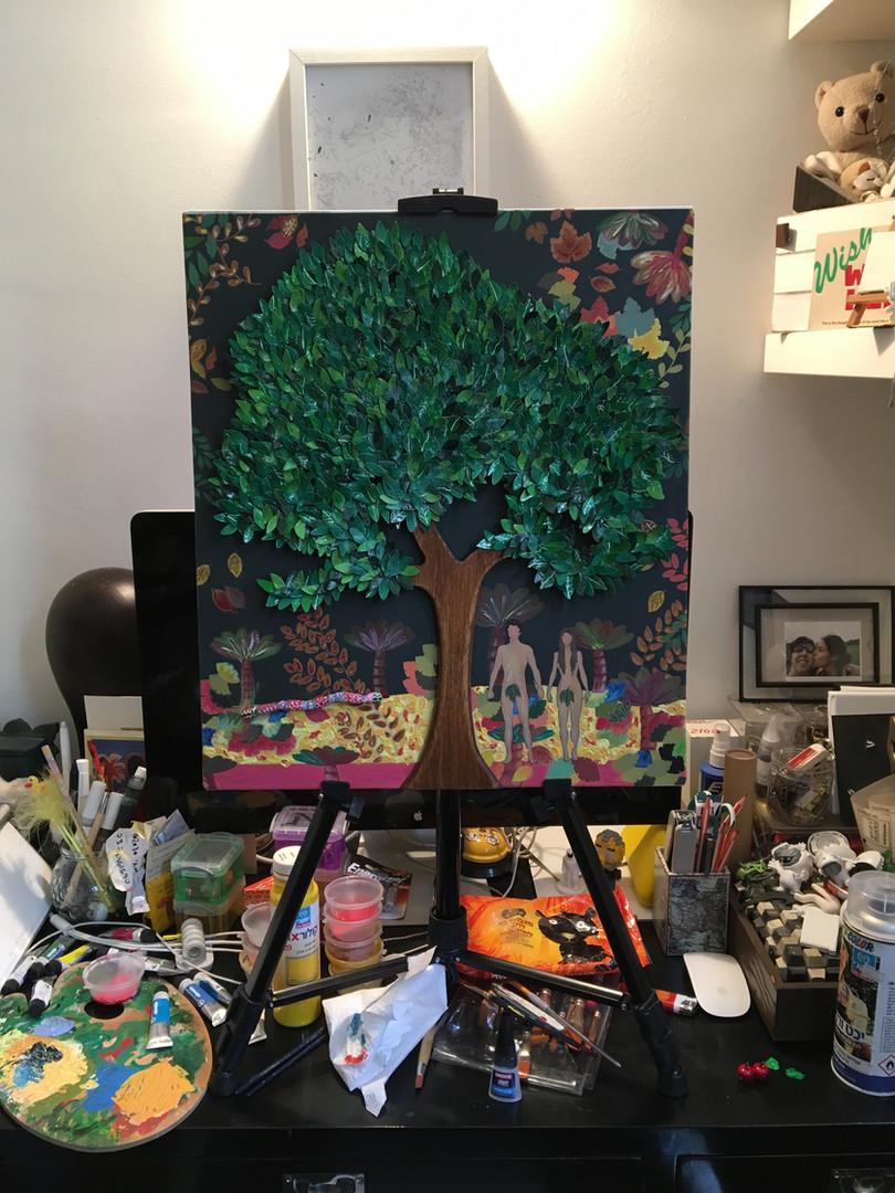 Art Process. Acrylic on canvas.
