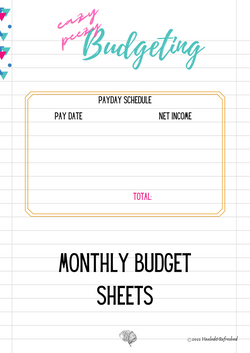 NEW Eazy Peezy Monthly Budgeting Sheets.
