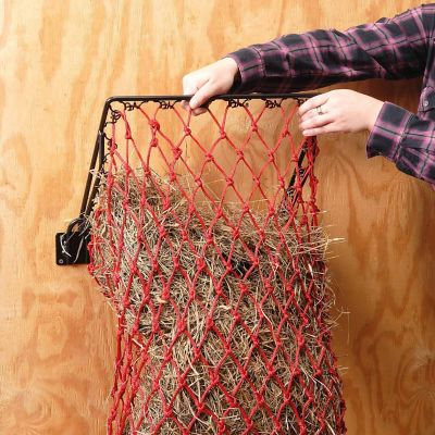 Original Hay Hoops Collapsible Wall Hay Feeder With Net