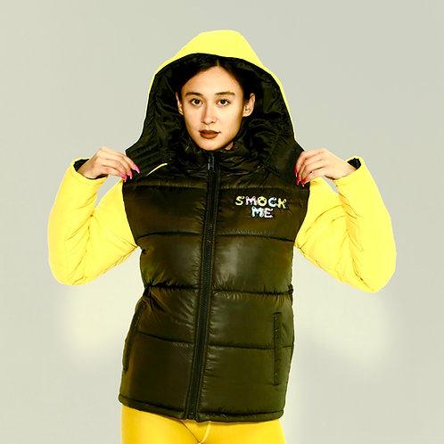 Yellow Smock Me Puffer Jacket