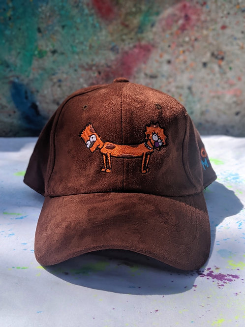 Brown Bart-Lisa Dog Hat