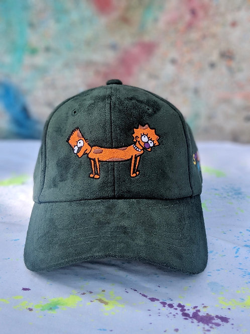Olive Green Bart-Lisa Dog Hat