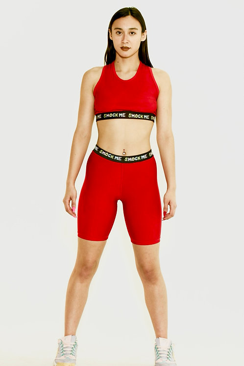 Red Smock Me Sport Shorts