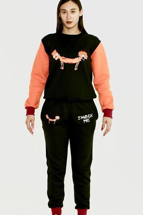 Bart Lisa Cat-Dog Crewneck Sweatshirt