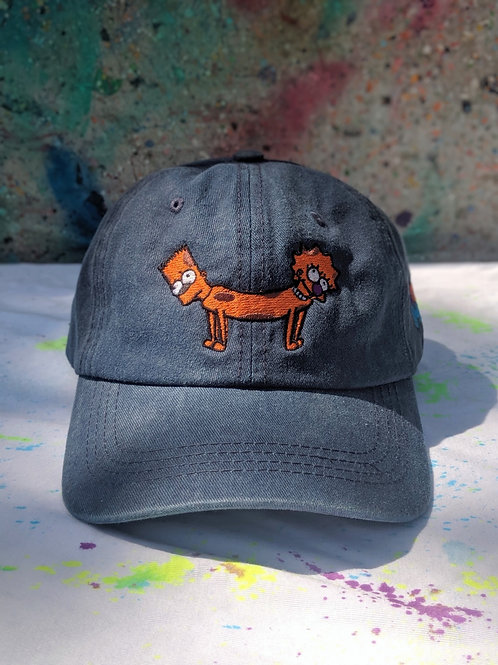 Navy Blue Bart-Lisa Dog Hat