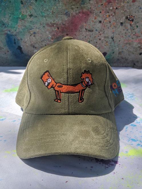 Olive Green Bart-Lisa Dog Hat