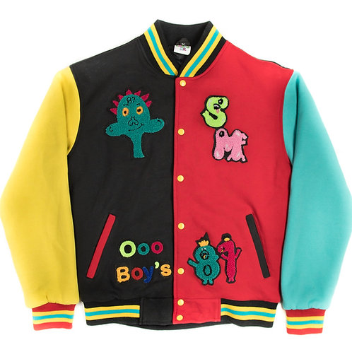 Multi Color Smock Me Varsity Jacket