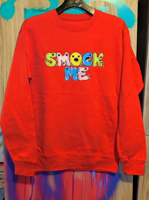 Smock Me Sweater Red