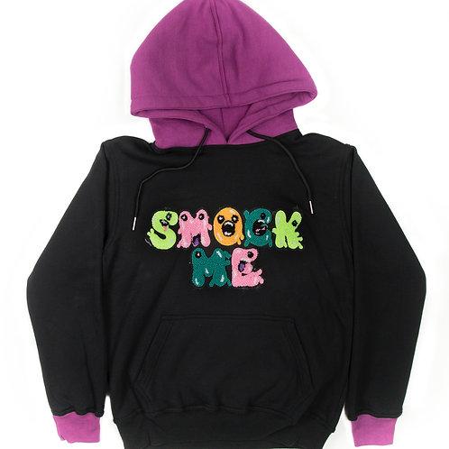 Purple & Black Smock Me Hoodie