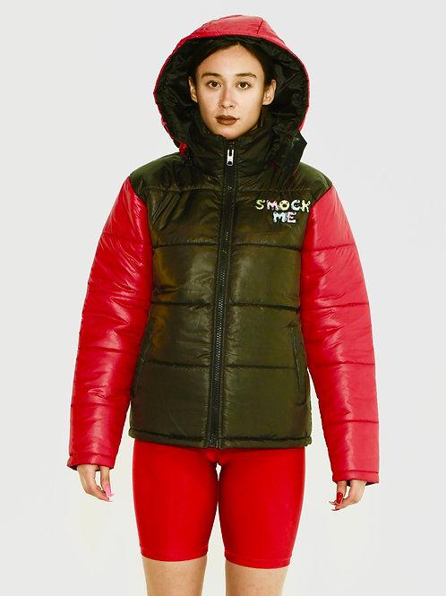 Red Smock Me Puffer Jacket