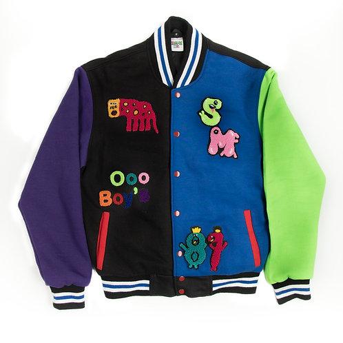 Multi Color Smock Me Varsity Jacket