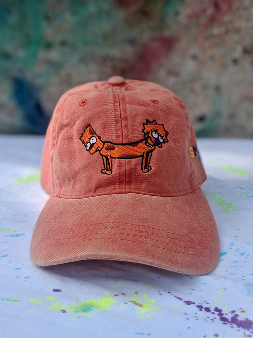 Peach Bart-Lisa Dog Hat