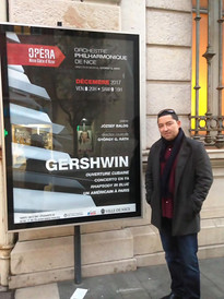 in front of the Opera House in Nice