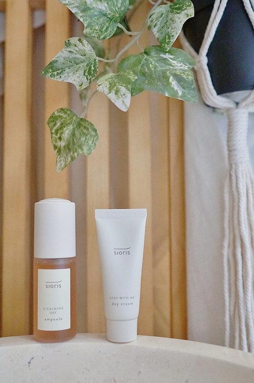 Sioris Calming Ampoule & Day cream Set ( travel size )