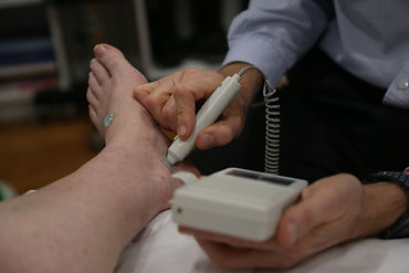 Doppler ultrasound of foot artery