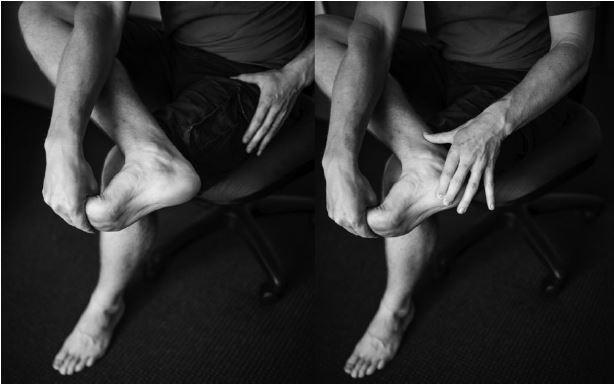 Plantar arch stretch and massage